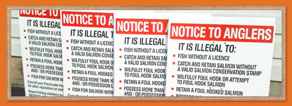 notice to anglers